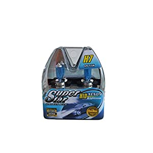 SUPERSTAR H7 8500k Super White High Performance, Long Lasting Halogen Headlight Bulb, Xenon and HID Equivalent BRIGHT(Pack of 2)