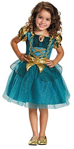 Disguise UHC Princess Merida Brave Theme Fancy Dress Toddler Child Halloween Costume, Toddler M (3T-4T)