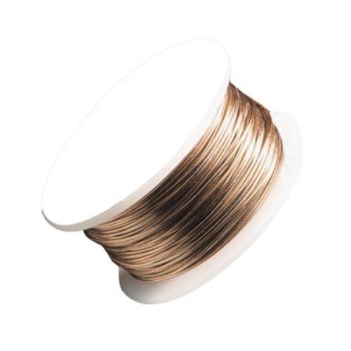 Beadalon AWS-26-NTB-30YD Artistic Wire 26-Gauge Non-Tarnish Brass Wire, 30-Yards ()