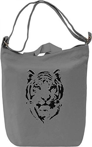 Tiger Borsa Giornaliera Canvas Canvas Day Bag  100% Premium Cotton Canvas  DTG Printing 