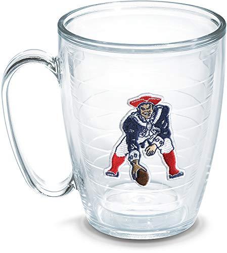 Tervis NFL New England Patriots Legacy Emblem Individual Mug, 16 oz, Clear - 1049242