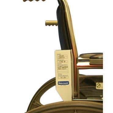 Wheelchair Labeling System - Bracket Wheelchair
