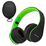 PowerLocus Wireless Bluetooth Over-Ear Stereo Foldable Headphones, Wired Headsets with Built-in Microphone