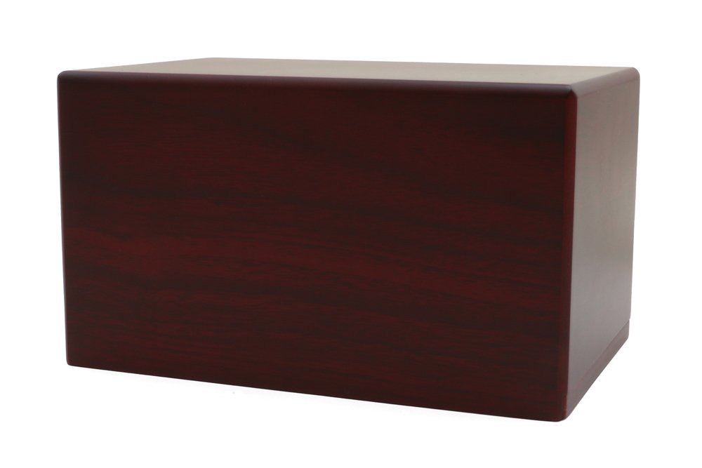Near & Dear Pet Memorials MDF Box Pet Urn 25 Cubic Inch Cherry Finish RUCMBC-25