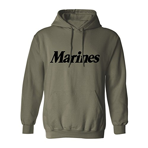 Marine Green (Marines Hooded Sweatshirt in Military Green - XX-Large)
