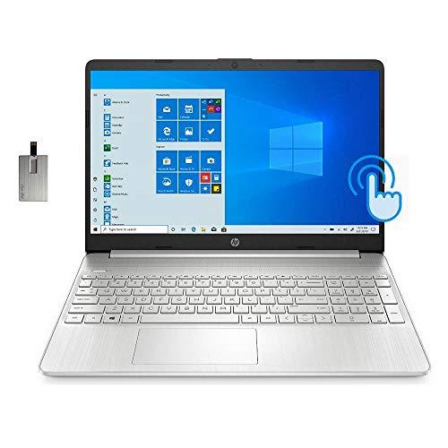 2020 HP 15.6″ FHD Touchscreen Laptop Computer, 10th Gen Intel Core i7-1065G7, 24GB RAM, 1TB SSD, HD Audio, HD Webcam, Intel Iris Plus Graphics, Bluetooth, Windows 10, Silver, 32GB SnowBell USB Card