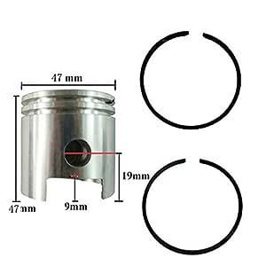 Amazon.com: JRL 47mm Piston & Piston Rings Kit Fits 80cc