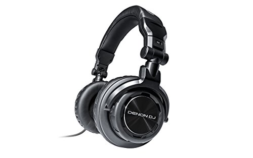 Denon DJ HP800 | Heavy-Action On-Ear DJ Headphones with Rotating Ear Cups & Included Carry Bag (40mm driver / 1700mW input) by Denon DJ