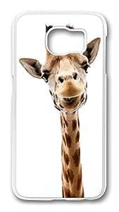 Brian114 Case, S6 Case, Samsung Galaxy S6 Case Cover, Cute Giraffe Retro Protective Hard PC Back Case for S6 ( white )