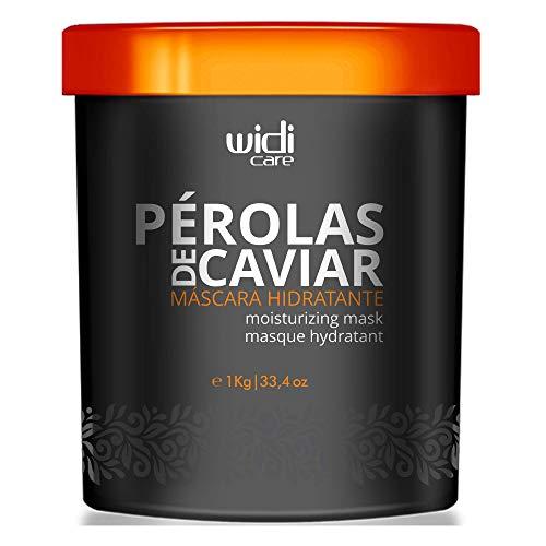Máscara Hidratante Pérolas de Caviar, 1 kg, Widi Care, Preto, Grande