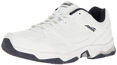AVIA Men's Avi-Rival Walking Shoe, White/True-Navy/Chrome Silver