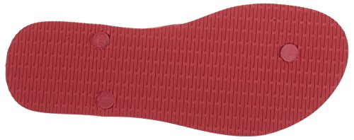 A | X Armani Exchange Donna Classica Stampata Ascia Flip-flop Royal Red
