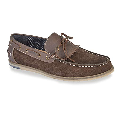 Silver Street London Mens Casual Suede Leather Savoy Slip on Boat Shoe Deck Shoe in Sizes 7-12