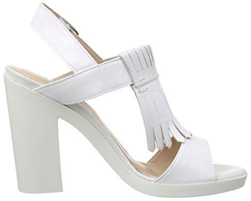 LEA FOSCATI St.Tropez - Sandalias de Tobillo Mujer Blanco - Weiß (BIANCO+BIANCO)