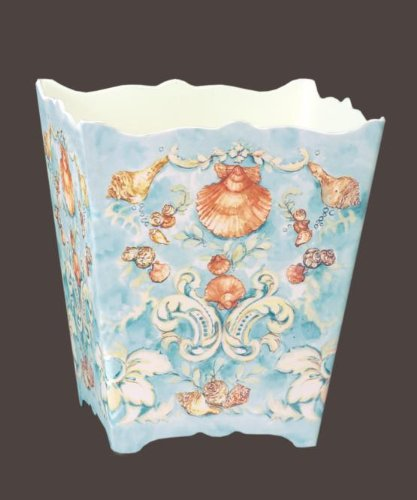 Keller-Charles 9058 SHELLS Wastebasket designed by Christina Ladas (Keller Shell)