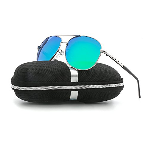 Sunglasses for Men Women Aviator Polarized Unisex Metal Frame UV Driving - Glare Anti Sunglasses