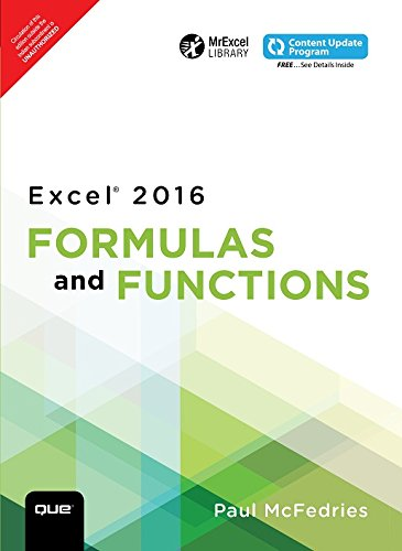 Excel 2016 Formulas and Functions 1/e