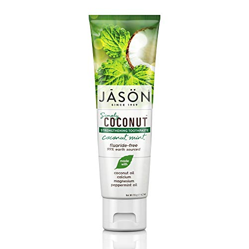 JASON Simply Coconut Strengthening Toothpaste, Coconut Mint, 4.2 Ounce Tube
