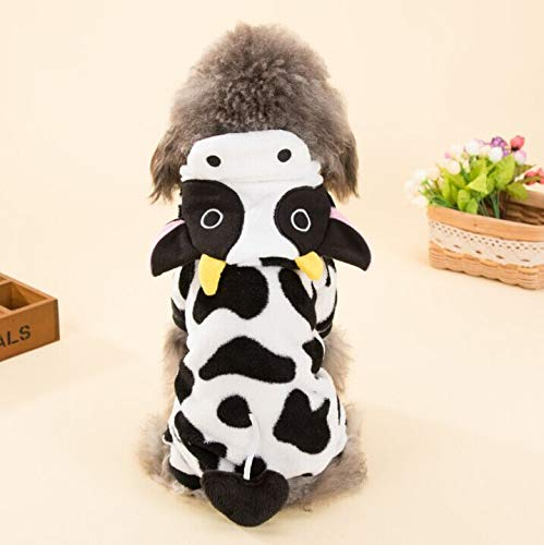 Cowmole Co. Cute Pet Dog Costume Warm Flannel Hoodies Outfit for Dog Winter Dog Clothes Puppy Jacket Chihuahua Clothes for Small Dog 21S2