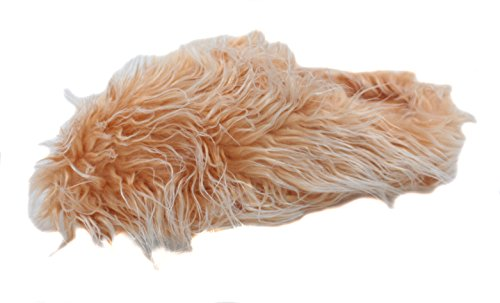 Making Waves Womens Brown Super Hairy Fuzzy Slippers (X-Large 9.5-10.5) -