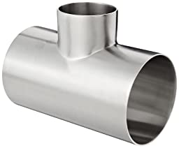 Dixon B7RWWW-R300200P Stainless Steel 316L Polished Fitting, Weld Reducing Tee, 3\