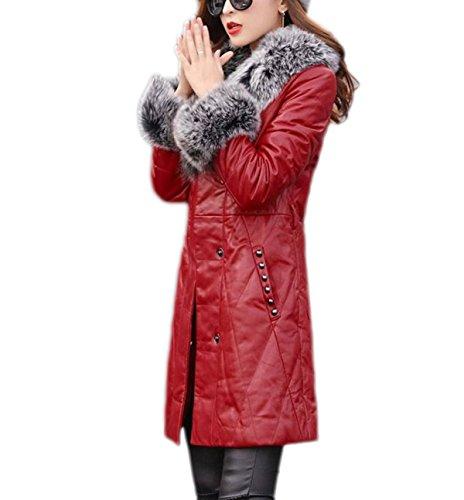 Invierno Cuero Caliente Gruesa Red La De E Wintermantel Sublevel Mantel Chaqueta Chaqueta Damen De Winterparka Chaqueta Femenina Otoño awY8Rqp