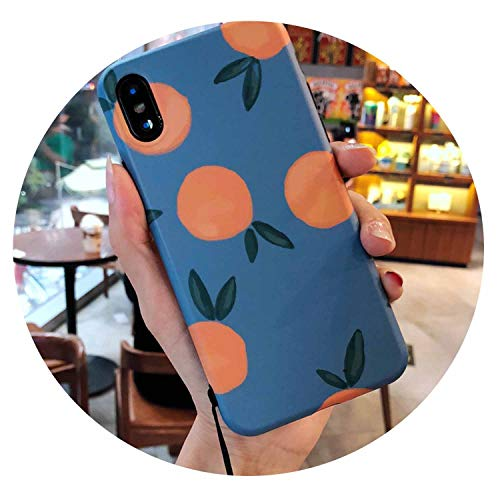 Latest Ins Retro Orange AppleXs max Mobile Phone Shell 7p Tide Brand 6plus Small Fresh for iPhone8 Female XR,Orange,for iPhone XR orange iphone xr case 1