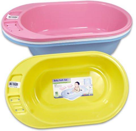Baby Bath Tub 32 Inches Long Transparent 12 pcs sku# 919898MA by DDI