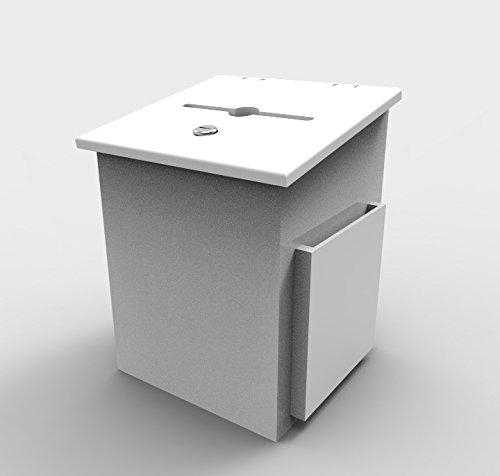 [해외]FixtureDisplays Comment Collection Box Suggestion 기부상자 자선 박스 투표 박스 15659-화이트 / FixtureDisplays Comment Collection Box Suggestion Donation Box Charity Box Ballot Box 15659-White