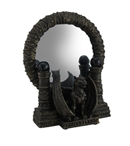 Zeckos Bronze Finished Gothic Gargoyle Table Mirror for sale  Delivered anywhere in USA