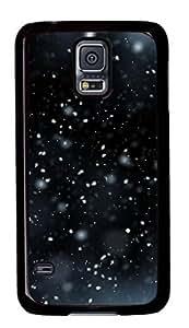 Samsung Galaxy S5 Case, iCustomonline Snow Flying Protcvtive Back Case Cover Skin for Samsung Galaxy S5 I9600 - Black