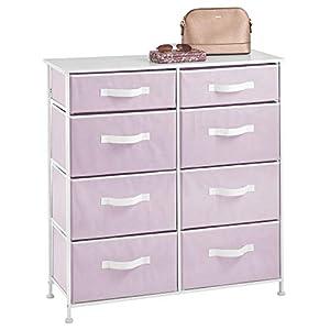 mDesign commode à 8 tiroirs – meuble à tiroirs robuste pour la chambre à coucher, le salon ou le couloir – rangement…