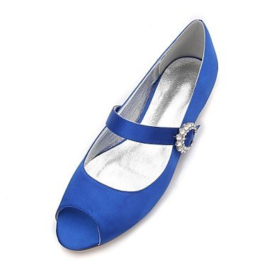 Blue Summer amp;Amp; Shoes EU44 Champagne Ruby Flat Women'S Wedding Heelivory US12 Party Satin Wedding Evening Rhinestone UK10 Spring Dress Comfort CN46 Bowknot nX5agF8