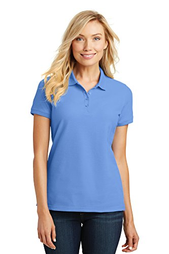 Port Authority Ladies Core Classic Pique Polo. L100 Carolina Blue -