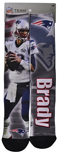 NFL Apparel Team For Bare Feet New England Patriots Tom Brady Player Sock 10-13