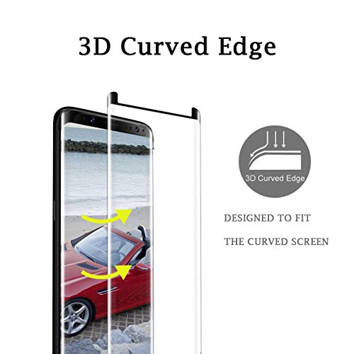 [2 - Pack] Galaxy Note 9 Screen Protector, Wehasi [3D Curved Edge][Case Friendly] Ultra Clear 9H Hardness Tempered Glass Screen Protector Bubble-Free Film Samsung Galaxy Note 9 2018, Black by Luminira (Image #2)