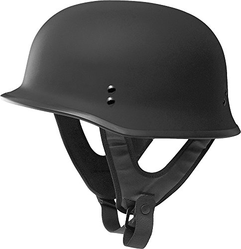 Fly Racing 9MM Solid Helmet , Distinct Name: Flat Black, Gender: Mens/Unisex, Primary Color: Black, Helmet Type: Half Helmets, Helmet Category: Street, Size: Lg F73-8221-4