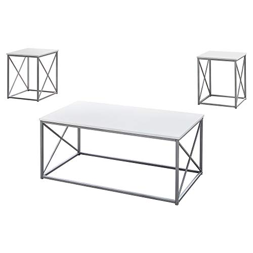Monarch Specialties Table Set, One Size, White