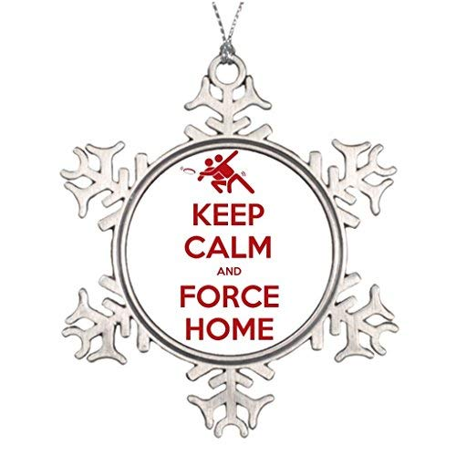 Ultimate Tree Decorated (Vehfa Xmas Trees Decorated Sports Snowflake Ornaments Ultimate Frisbee Keep Calm and Force Home Metal Garden Snowflake Ornaments)