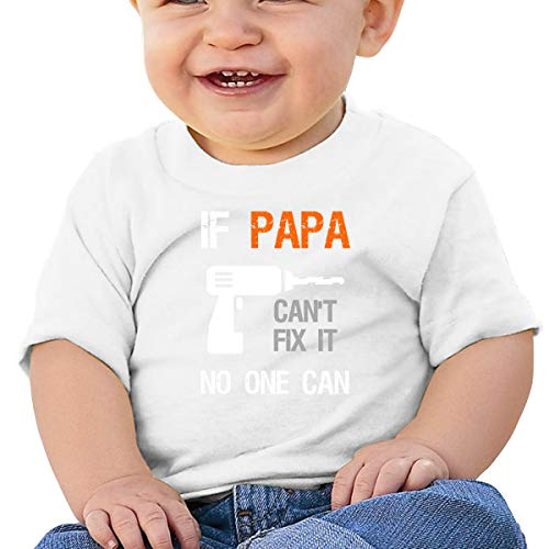rt,Xbox Mic If Grandpa Or Daddy Can't Fix It No One Can UBaby Boy Girl Short Sleeve T-Shirt Tops Casual Outfit 12M White