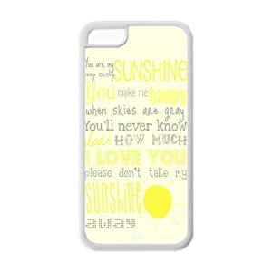 diy phone casePop funny quote you are my sunshine TPU case for iphone 5/5sdiy phone case