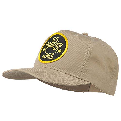 Patrol Cap Khaki (US Border Patrol Embroidered Patch Cap - Khaki OSFM)