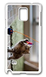 Adorable kitty toy Hard Case Protective Shell Cell Phone Samsung Galaxy S5 I9600/G9006/G9008 - PC White