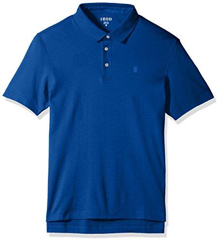 Izod Cotton Shirt - IZOD Men's Solid Interlock Polo Shirt, True Blue, Large