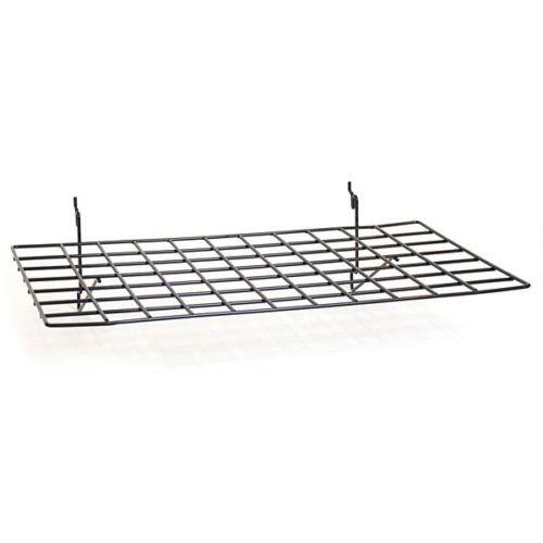 New Retails Black Flat Shelf fits Slatwall,Grid,Pegboard 23-1/2''w x 14''d by Flat Shelf