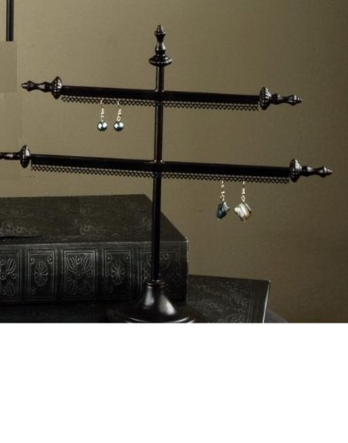 2 Arm Earring Stand - Antique Bronze Finish by tripar