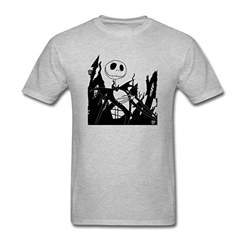 ONEPICE Men's The Nightmare Before Christmas Short Sleeve T Shirt (John Carpenter's Halloween Opening)