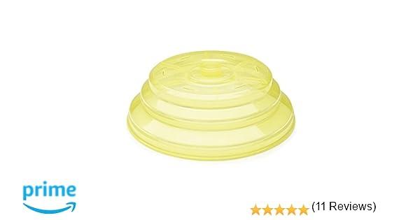IBILI 798500 Tapa Plegable para microondas de Silicona, Color Amarillo (26 x 26 x 3 cm)