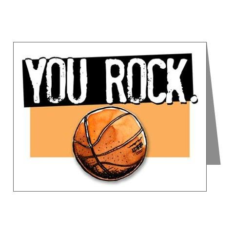 Play Strong BASKETBALL You ROCK. Note Cards (4.25