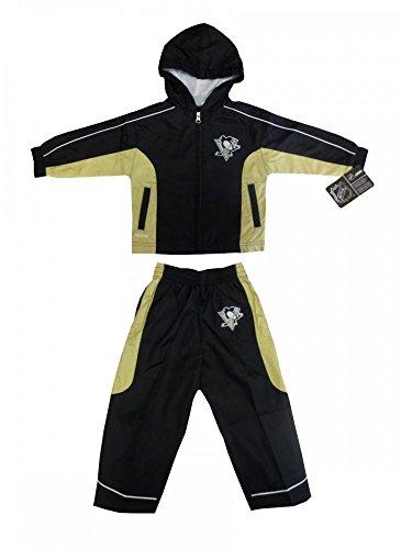 (Reebok Pittsburgh Penguins NHL Toddler Windbreaker Jacket & Pants Set - 2T)